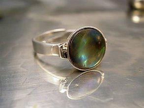 Prstene - nastaviteľný prsteň s perleťou - ag 925 - 6466784_