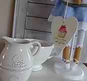Bábiky - Modrá na drevenom podstavci - 6463324_