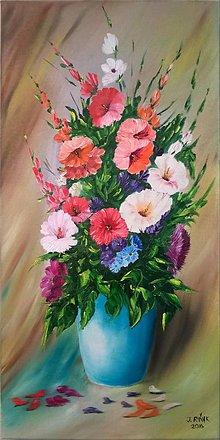 Obrazy - Záhradné kvety - 6463992_