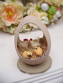 Dekorácie - Veľkonočná dekorácia vajíčko , hniezdo - 6464927_