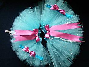d1f4241fd4d1 Detské oblečenie - tyrkysové žblnkotanie - tylová suknička s čelenkou -  6467222