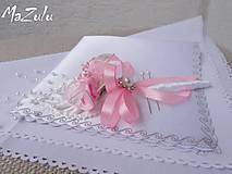 Pierka - svadobné pierko v ružovom - 6464890_