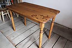 Nábytok - Drevený stôl - 6467396_