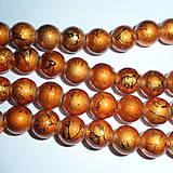 Korálky - Metalizované 10mm-10ks - 6467145_