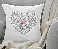 Úžitkový textil - Vankúš Heart - 6465842_