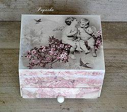 Krabičky - Šperkovnica anjeli - 6466965_