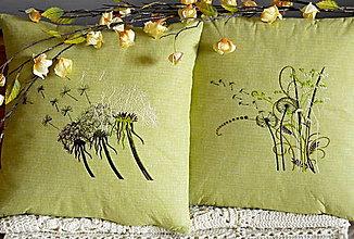 Úžitkový textil - vyšívané vankúše -výrazná zľava za dva kusy - 6464007_