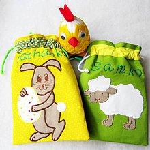 Úžitkový textil - Veľkonočné vrecúška - na výslužku - 6463845_