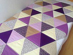 Úžitkový textil - ***A k c i a*** Fialová trojuholníková veľká deka - 6464447_