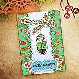 Papiernictvo - Vianočná pohľadnica Cartoon - chlapec - 6465722_