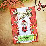 Papiernictvo - Vianočná pohľadnica Cartoon - Santa Claus - 6465725_