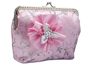 Taštičky - Svadobná růžová kabelka, kabelka pre nevestu  1390 - 6473244_
