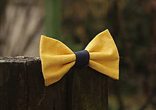 Doplnky - Motýlik žlto modrý - 6473174_