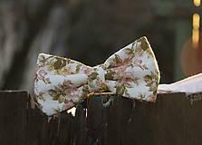 Doplnky - Motýlik ružové ruže - 6473223_