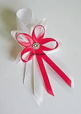 svadobné pierko veľké bielo červené