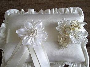 Úžitkový textil - Vankúš pod obrúčky - 6469820_