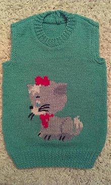 Detské oblečenie - Detská vestička - mačiatko - 6472742_