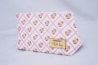 Taštičky - Kozmetická taštička Ružičky - 6469801_