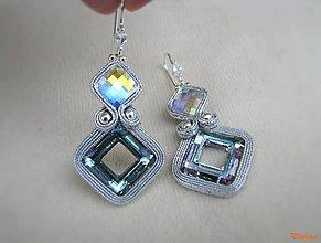 Náušnice - Hoop Collection - Silver ...soutache - 6471062_