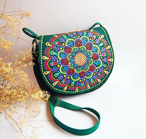 Malá smaragdová kabelka s farebnou mandalou   DARTASKA - SAShE.sk ... c8f602c1b7e