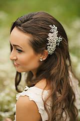 Svadobná ozdoba do vlasov,  svadobný hrebienok do vlasov