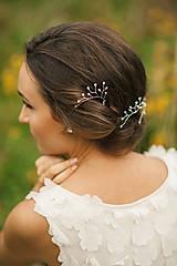 Ozdoby do vlasov - Svadobná ozdoba do vlasov so Swarovski,  svadobné vlásenky do vlasov - 6473214_
