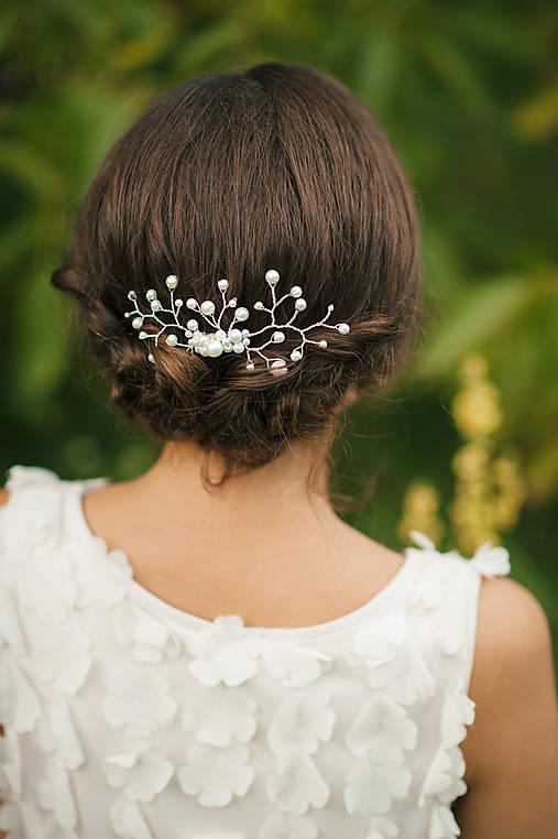 ec3172ae7 Svadobná ozdoba do vlasov, svadobná spona do vlasov / vesela_metla ...