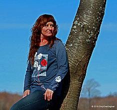 Tričká - Dámske tričko maľované MACHUĽKY - 6468957_