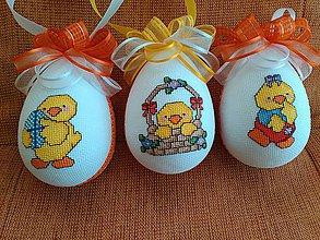 Dekorácie - sada troch vajíčok - 6471748_