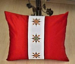 Úžitkový textil - vianočný vankúš-hviezdy - 6469673_
