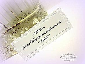 Papiernictvo - Kartičky k svadobnému oznámeniu - 6469895_