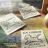 Drobnosti - Mačička: pečiatka (3x3 cm) - 6472743_