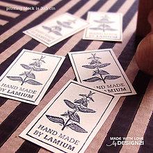 Drobnosti - Lamium: pečiatka 3x5 cm - 6472885_