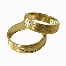 Prstene - Obrúčky, žlté zlato - 6469194_