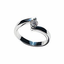 Prstene - Briliantový snúbny prstienok - 6472142_