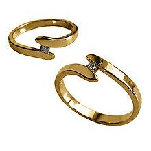 Prstene - Prstienok s briliantom - 6472346_