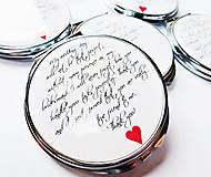 Darčeky pre svadobčanov - zrkadielko Srdečné záležitosti - 6470290_