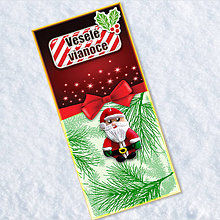 Papiernictvo - Dlhá vianočná pohľadnica (Santa Claus) - 6471931_