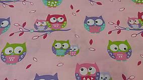 Úžitkový textil - Pastel owls - posledná šanca na jednu stranu podložky - 6475382_