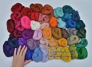 Textil - MERINO VLNA: sada 43 - 47 odtieňov - 6477804_