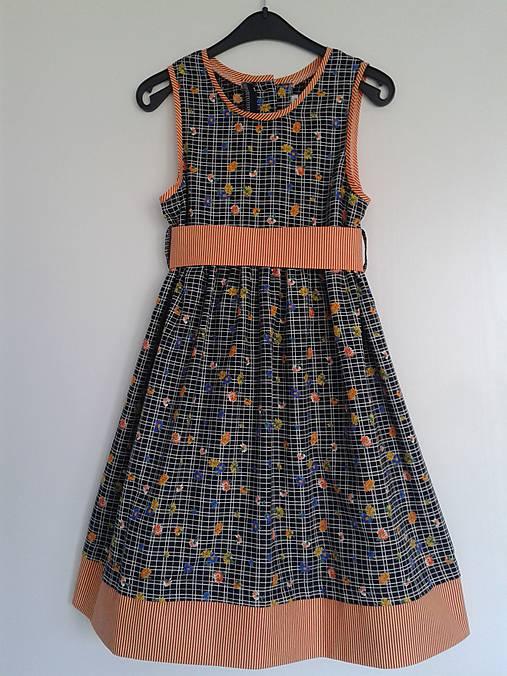15545895b503 Letné šaty kvietkované V 128 134   dievcatkovo - SAShE.sk - Handmade ...