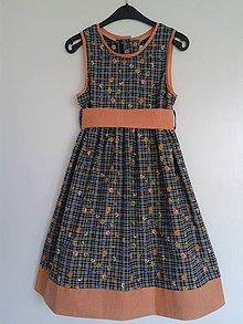 Detské oblečenie - Letné šaty kvietkované V 128/134 - 6473468_