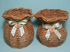 Dekorácie - Pletené vázy - nádoby - 6477271_