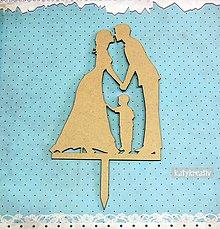 Dekorácie - zápich do svadobnej torty - 6474909_