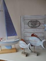Dekorácie - Modré vintage rybky - 6475029_