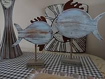 Dekorácie - Modré vintage rybky - 6475030_