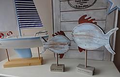 Dekorácie - Modré vintage rybky - 6475032_