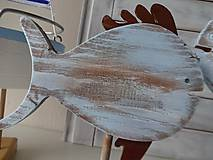 Dekorácie - Modré vintage rybky - 6475035_