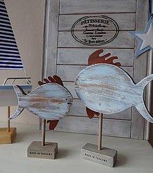 Dekorácie - Modré vintage rybky - 6475033_