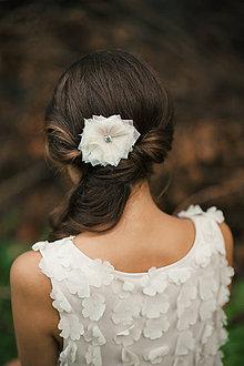 Ozdoby do vlasov - Svadobná ozdoba do vlasov so Swarovski,  svadobná spona do vlasov - 6473273_